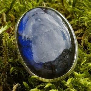 Labradorit Edelstein Ring oval